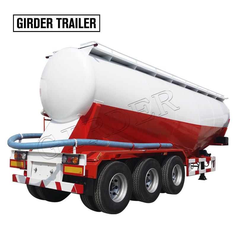 3 Axle 50m3 Bulk Cement Tank Tanker Semi Trailer Price